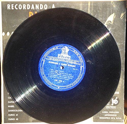 Django Reinhardt - Recordando a Django Reinhardt Original 10-inch Vinyl - Amazon.com Music