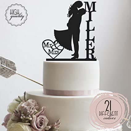 Amazon groom bride kissing each other customized wedding cake groom bride kissing each other customized wedding cake topper personalized cake topper wedding favor last junglespirit Choice Image
