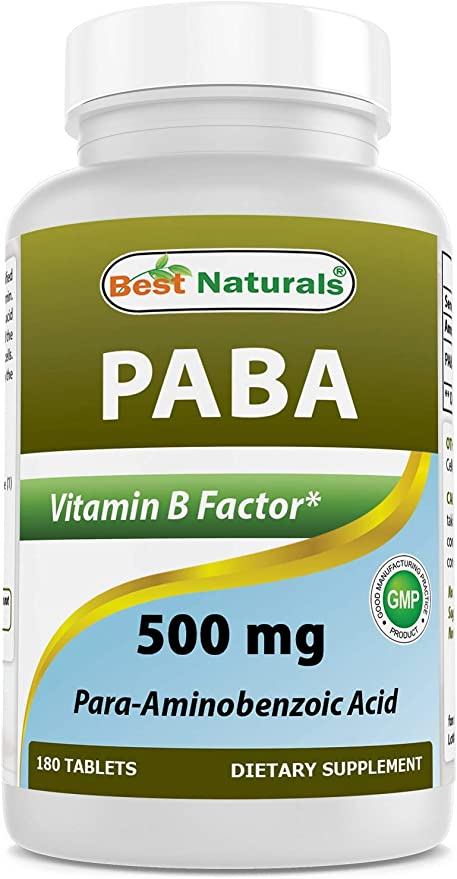 Best Naturals PABA 500 mg 180 Tablets