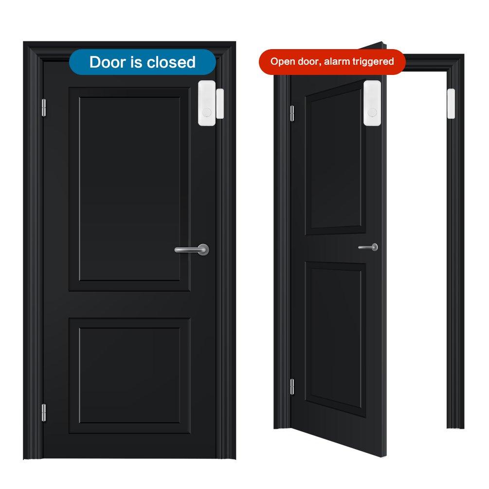 Amazon.com: Mini Detector de Sensor de Puerta Ventana Puerta ...