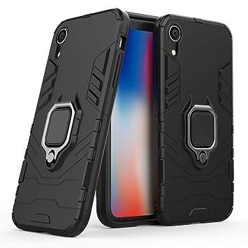 LuluMain Compatible con iPhone XR Funda, Anillo Metálico Sujeción ...