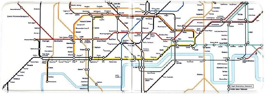 Night Sky Underground Map Travel Card Holder