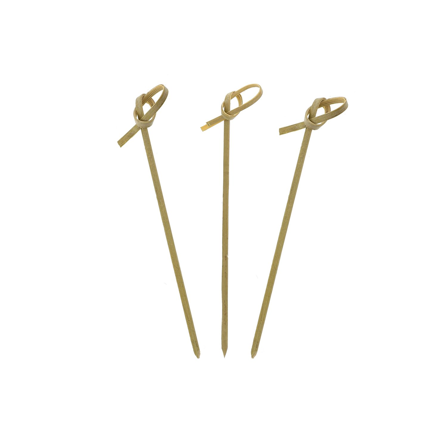 Royal Bamboo Knot Cocktail and Hors' D'oeuvre Picks, 4'', Green, Package of 1000