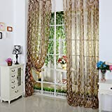 PanDaDa Leaf Tulle Room Door Window Curtain Drape Panel Sheer Scarfs Valance...