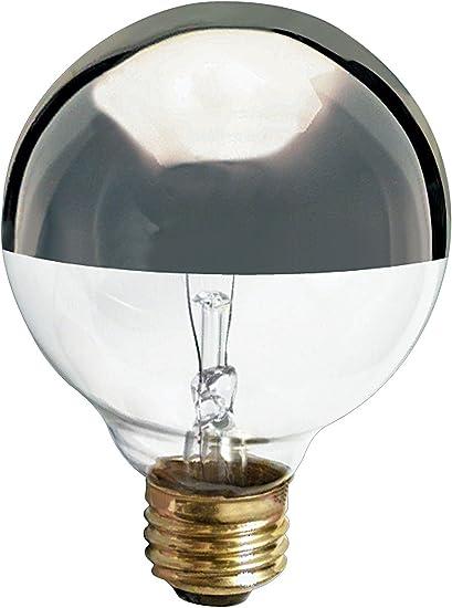Satco S3860 120v Medium Base 25 Watt G25 Light Bulb Silver Crown Incandescent Bulbs Amazon Com