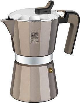 BRA Titanium - Cafetera, Capacidad 12 Tazas, Aluminio: Amazon.es: Hogar