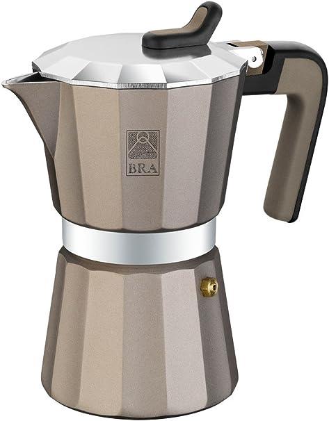 BRA Titanium - Cafetera, Capacidad 3 Tazas, Aluminio: Amazon.es: Hogar