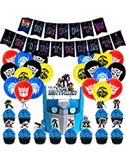 Taryana Transformers Movie Inspired Birthday Party Supplies Decorations Set - 62pcs Pack