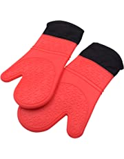 Professional Silicone Oven Mitt Heat-Resistant, waterproof, with Quilted Liner, for Cooking, Baking, Barbecue