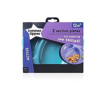 Tommee Tippee Explora Easy Scoop Futternapf Deckel und L/öffel Farben k/önnen variieren