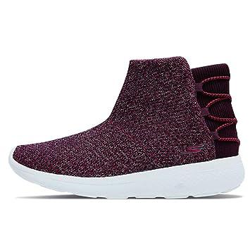 Zapatos de Mujer Botines Tela de Malla Tejida Malla Superior Cálidas Zapatillas de Deporte Cortas de Terciopelo Zapatos para Caminar Ocasionales Calzado ...