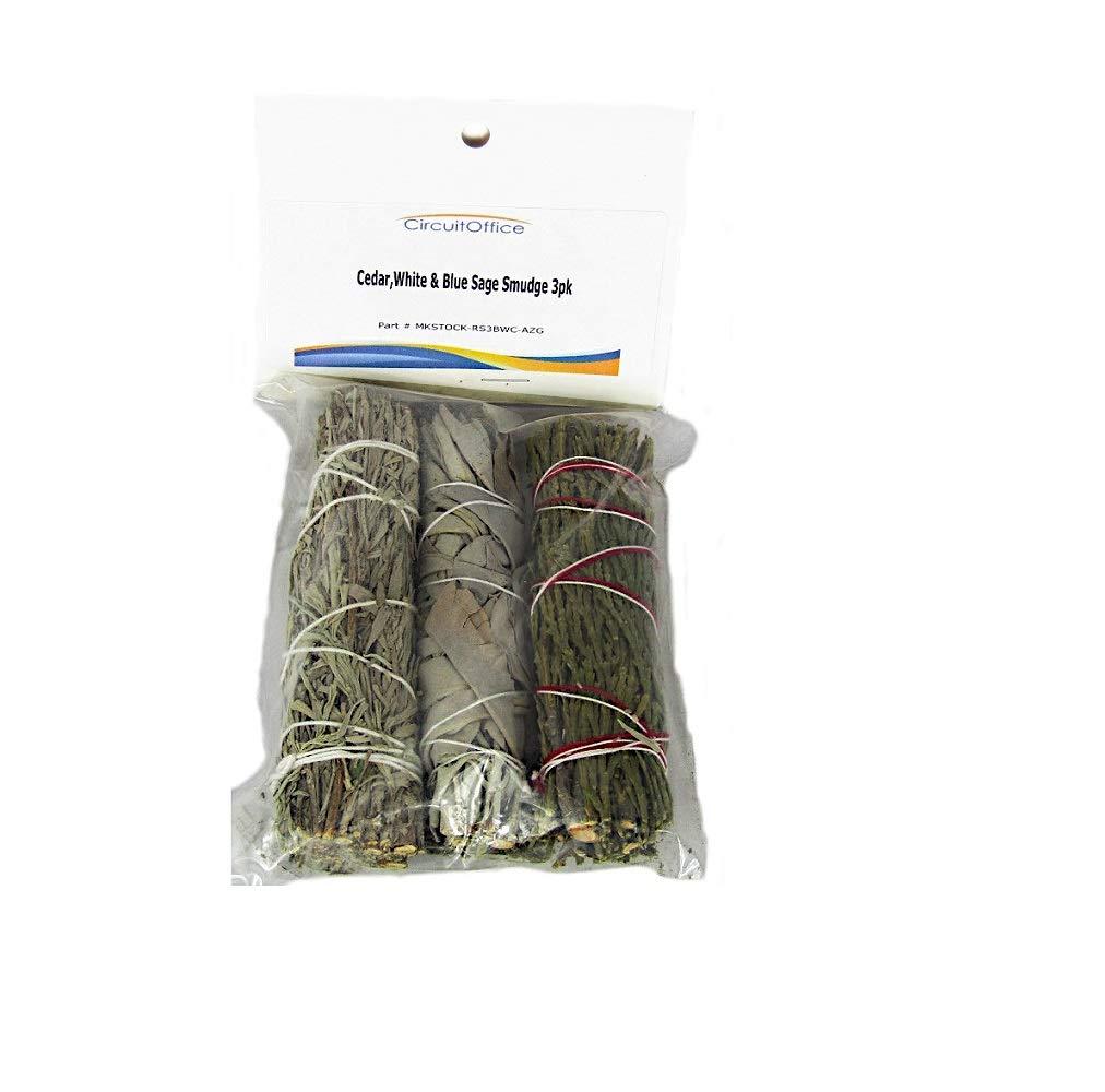 正規品! Assortment 4インチ of Cedar、ホワイト、ブルーセージSmudge Stick 3 3 B076NXRD1S - Pack 4インチ B076NXRD1S, 作業服の渡辺商会:38c0f72c --- aemmontagens.com.br