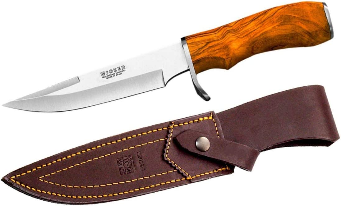 Artenostro Tiger Hunting Knife with Olive Wood Handle