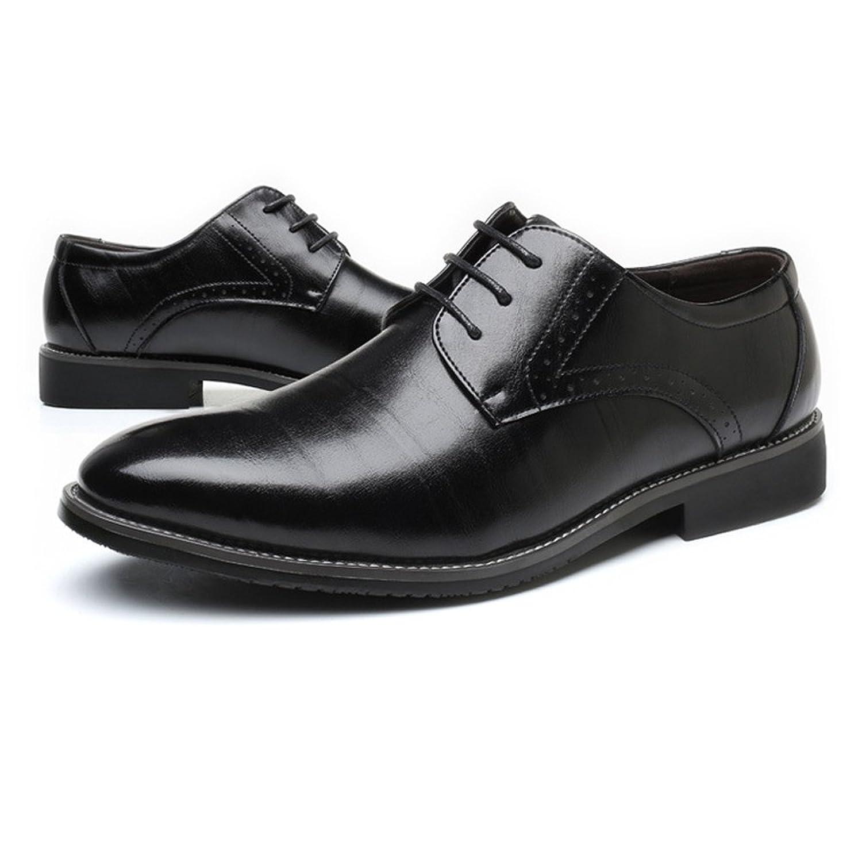 Chaussures D'affaires Formelles pour Hommes Classique Matte en Cuir PU Haut Lacets Oxford Doublés Respirant Chaussures de Sport en Cuir pour Hommes (Color : Black, Size : 40 EU)