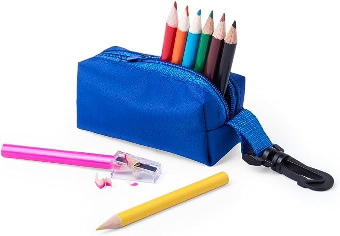 Lote de 20 Estuches con 10 Piezas (9 Lapices de colores + Sacapuntas) ¡Con Llavero Ideal para colgar en la Mochila! Lápiz, lapiceros infantiles de colores para Niños: Amazon.es: Oficina y papelería