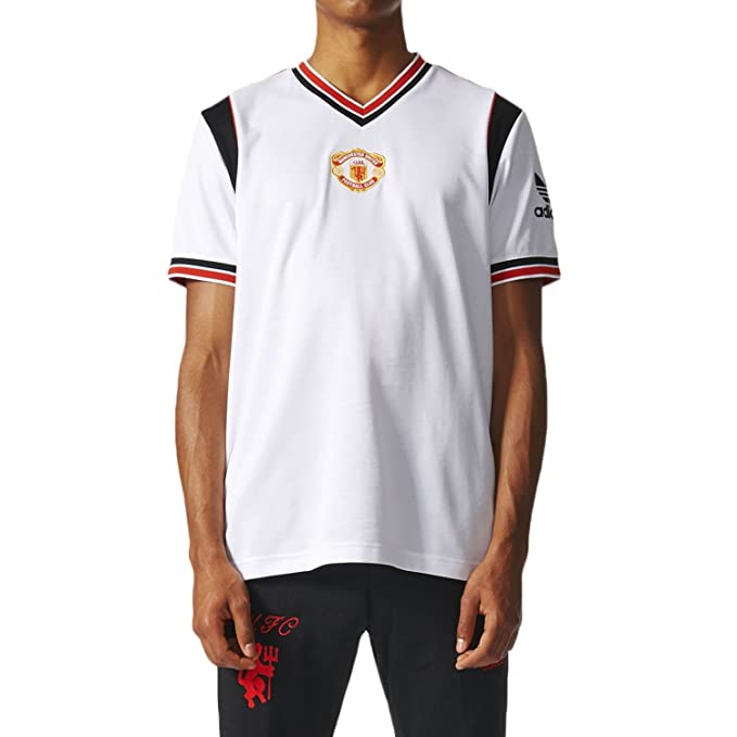 ce79963df Adidas Manchested United FC Away Jersey Men s T-Shirt White Black Red az1242