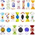 Niome 20Pcs Vintage Murano Style Glass Sweets Candy Ornament For Home Party Wedding Christmas Festival Decorations Gift Candy Ornament Set