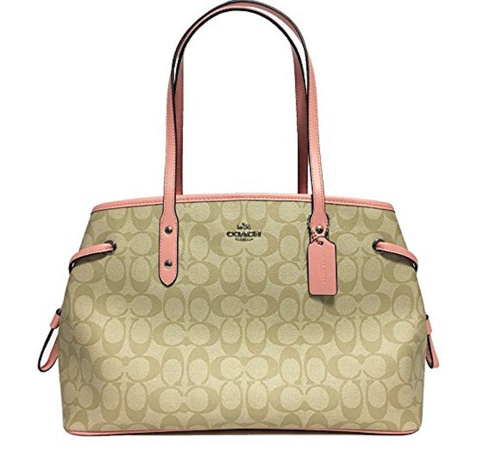 Coach Signature Drawstring Carryall Shoulder Bag F57842