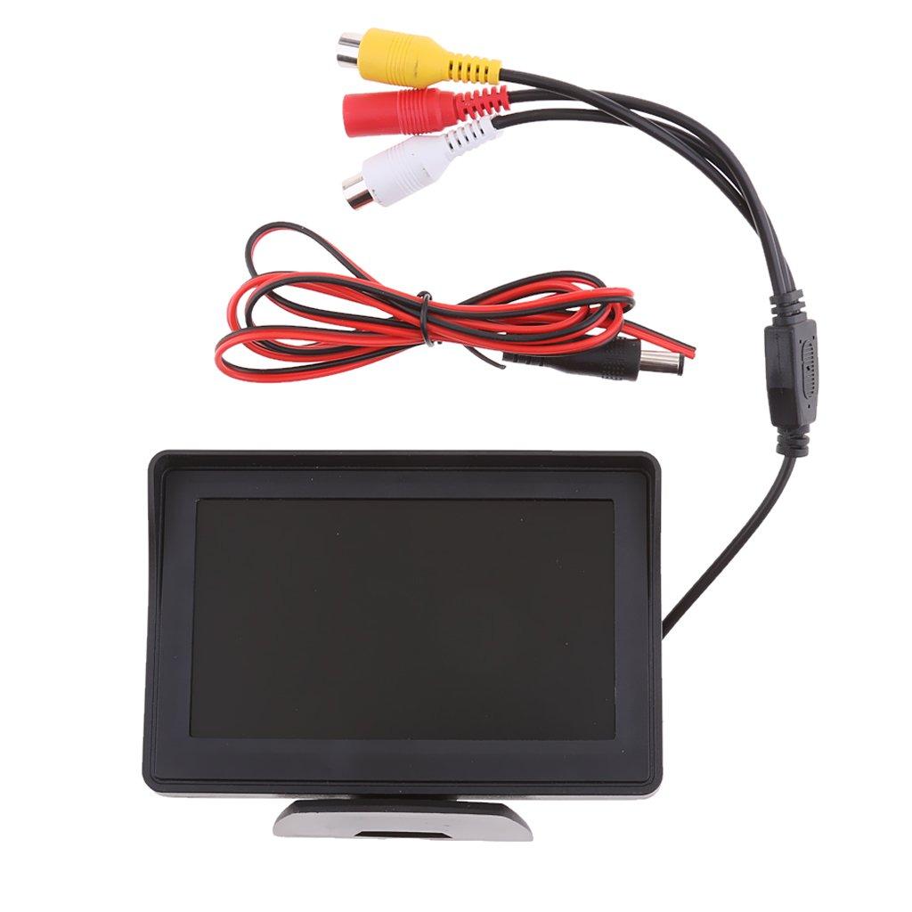 MagiDeal 4.3 Zoll LCD TFT Auto Monitor Bildschirm f/ür R/ückansicht Kamera DC 12V-24V
