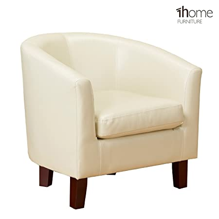 1home Bonded Leather Tub Chair Armchair for Dining Living Room Office Reception (Ivory)  sc 1 st  Amazon UK & 1home Bonded Leather Tub Chair Armchair for Dining Living Room ...