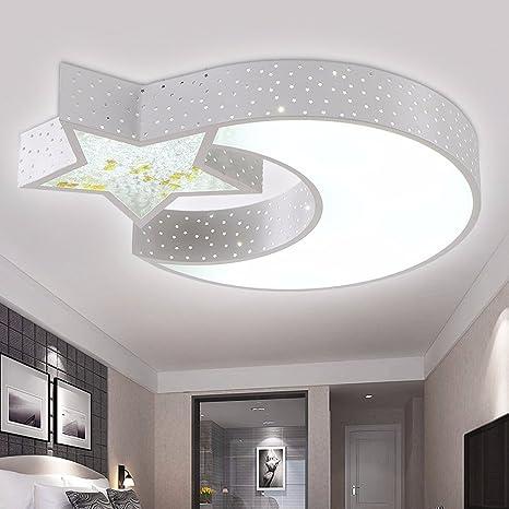 Lámpara de techo LED luna estrellas infantiles ideas de ...