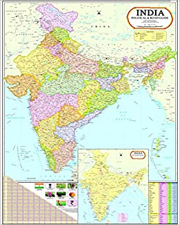Buy India Map with Telangana (100 x 140 cm) Book Online at Low