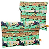 Ava & Kings 2 Pack On The Go Reusable Kids Snack Coolers - Construction