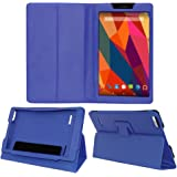 ACM EXEMMXP680ZY1BL Folio Cover for Micromax Canvas Tab P681 (Blue)