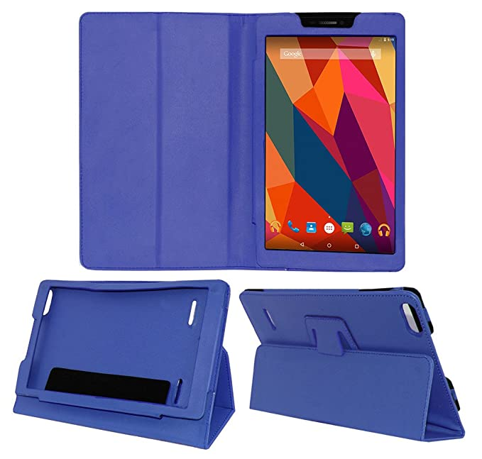 ACM EXEMMXP680ZY1BL Folio Cover for Micromax Canvas Tab P681  Blue  Touch Screen Tablet Bags   Cases