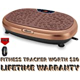 EILISON FitMax 3D Vibration Plate Exercise Machine with Loop Bands - Full Body Vibration Platform Machines for Home Fitness,