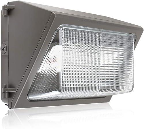 Konlite 80W LED Wall Pack Light 11,200LM 5000K Daylight Dust to Dawn LED Outdoor Lighting DLC and ETL