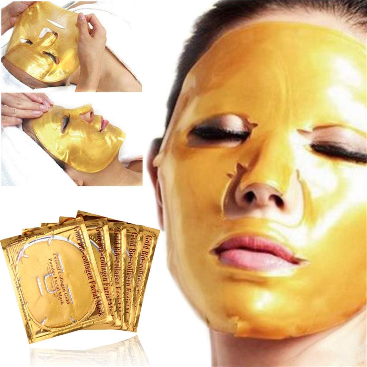 Mascarilla Facial Hidratante Antienvejecimiento Mascarilla Facial Hidratante De Oro: Amazon.es: Belleza