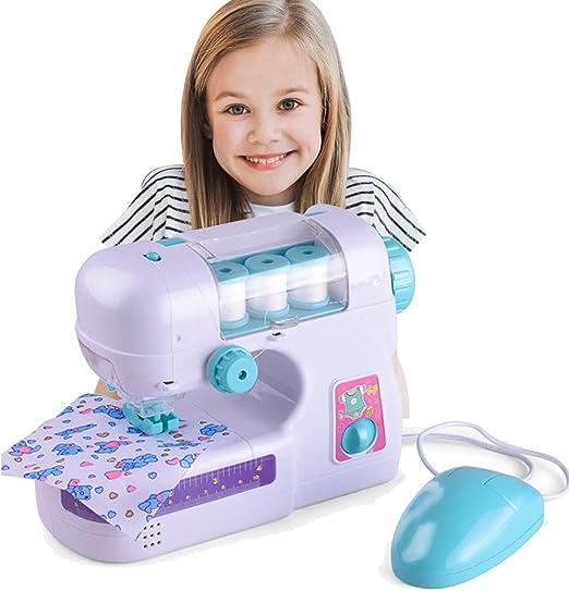 JUSTDOLIFE Mini máquina de Coser eléctrica Crafting Machine Pretend Play Toy para niños: Amazon.es: Hogar