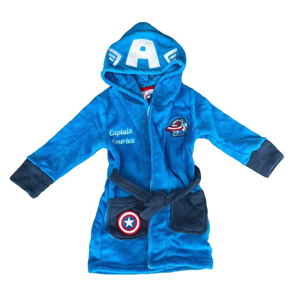 Captain America Polaire Peignoir Robe De Chambre 4/6/8/10 Ans