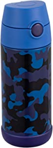 Snug Flask for Kids - Vacuum Insulated Water Bottle with Straw (Camo)