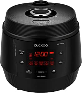 Cuckoo CMC-QAB501S, Q5 STANDARD 8 in 1 Multi (Pressure, Slow, Rice Cooker, Browning Fry, Steamer, Warmer, Yogurt, Soup Maker) Aluminum Inner Pot, Q50, Midnight Black