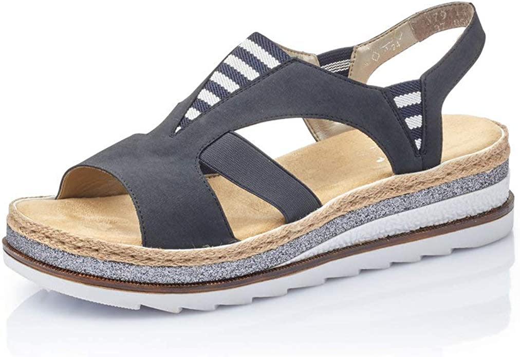 Damen Sandalen V02C1, Frauen Keilsandalen