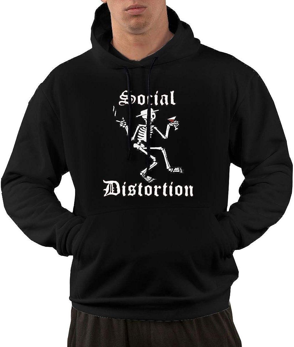 MatthewNiles Social Distortion Mens Winter Drawstring Pocket Sweatshirt