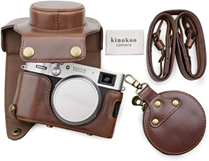 Muziri Kinokoo Pu Leder Tasche Für Fuji X100v Mit Kamera