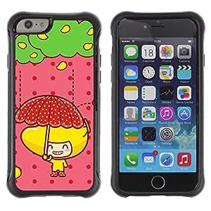 Pulsar Defender Series Tpu silicona Carcasa Funda Case para Apple iPhone 6(4.7 inches) , Cute Fruit Girl