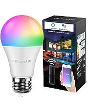 LE Lampadina Intelligente E27 9W Lampadina Smart WiFi 850lm, Luce Dimmerabile RGB + Bianco Caldo 2700K, Funziona con Alexa Google Assistant/IFTTT Controllo Remoto da App Smartphone iOS&Android