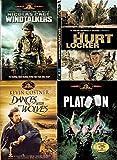 War Box Set Movie Collection - Hurt Locker & Windtalkers/Platoon/Dances with Wolves History 101 4-DVD Bundle