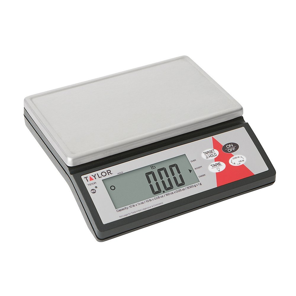 Amazon.com: Taylor Precision TE10R Digital 10 Lb. Portion Scale with S/S Platform: Industrial & Scientific