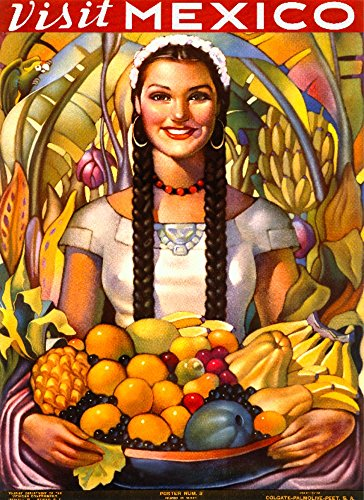 Visit Mexico Vintage Poster Mexico Collectible Giclee Gallery Print, Wall Decor Travel