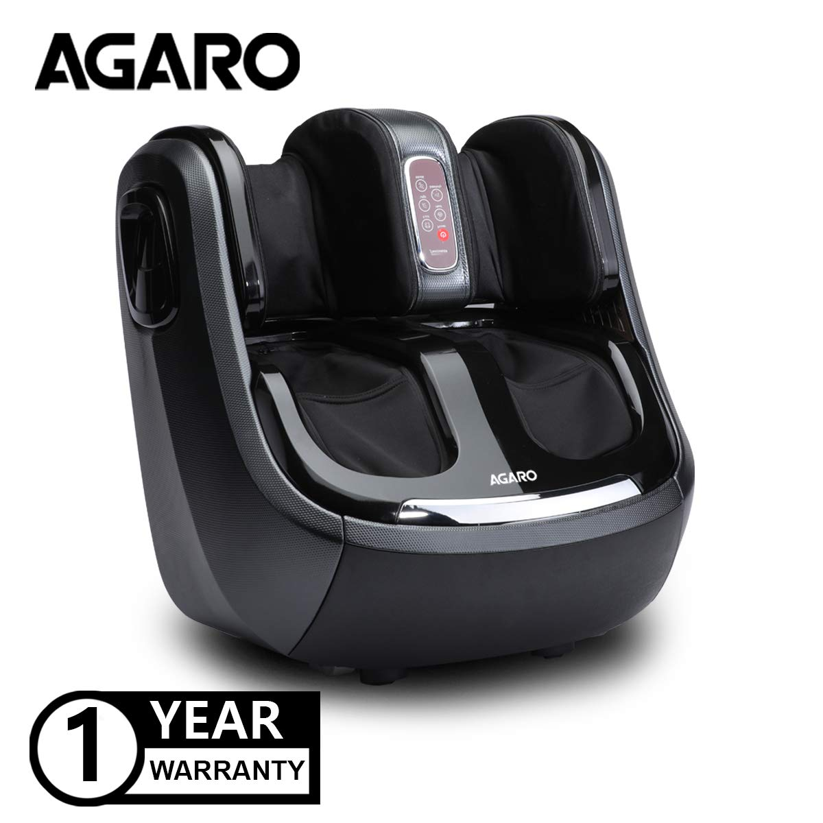 Agaro Relaxing Foot Calf And Knee Massager For Pain Relief (Black)