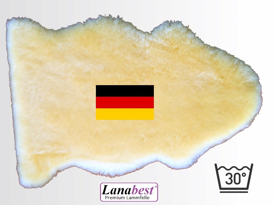 Blanket Lamb's Leather, Baby Blanket, 80 – 90 cm, Made in Germany Sheepskin Merino Tanned High Quality médicamente: Very soft, Cosy and odourless. Machine washable at 30 °C Perfect as Lambskin Leather for the Baby's Pram or Car Seat. Great Quality, Great f