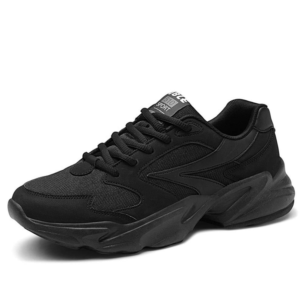 Qiusa Herren Schnürschuhe Atmungsaktive Schuhe Durable Non Slip Comfort Outdoor Laufschuhe (Farbe   Schwarz, Größe   EU 40)