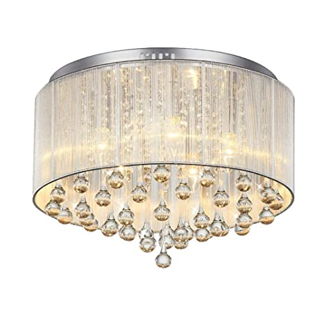 IFDyj Moderna lámpara de Techo de Cristal de Tela Creativa ...