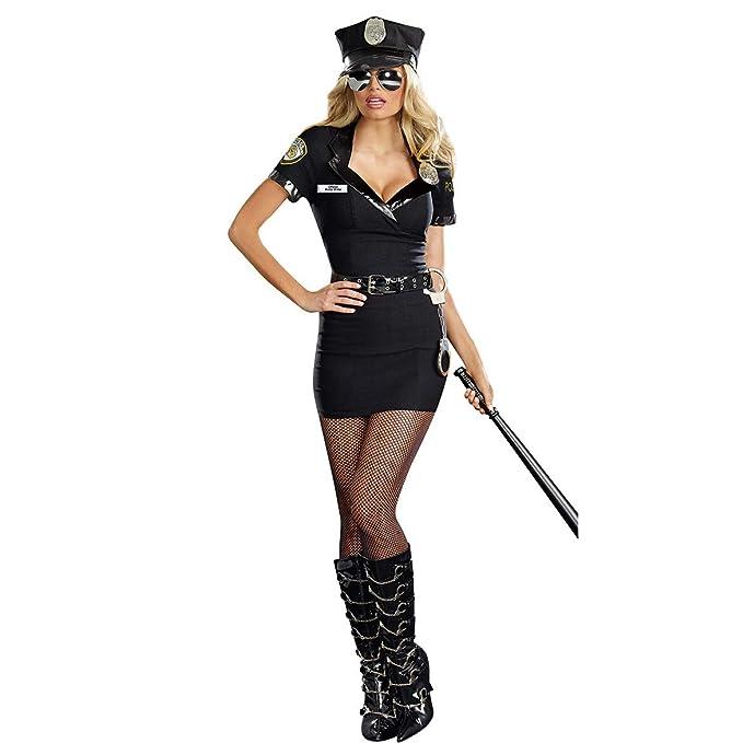 Amazon.com: Soyoekbt - Disfraz de policía sexy para mujer ...