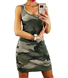 830665e88bc Clearance Women Dresses On Sale Camouflage Cocktail Party Evening ...